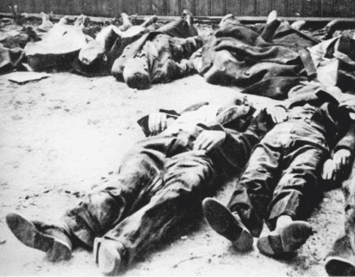 The bodies of Poles murdered in the Wola district.